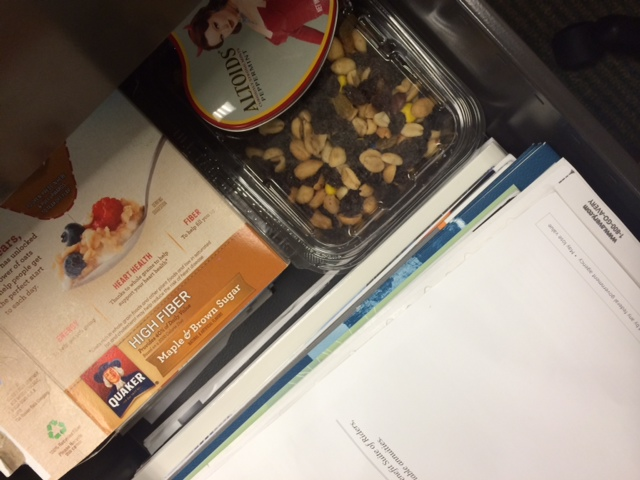 snacks in a drawer