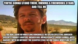 joe dirt fireworks