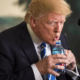 Donal Trum Drinking Water